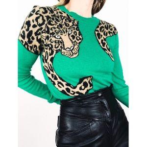 BCBG MAXAZRIA Jaxin Leopard Intarsia Sweater